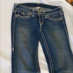 TRUE RELIGION boot cut women's SIZE 27 dark jeans